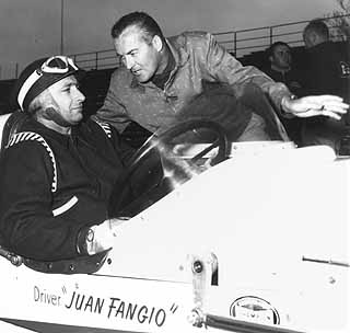 Fangio & Johnnie Parsons Indy 1958