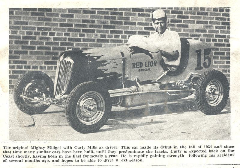 Curly Mills in first Midget article