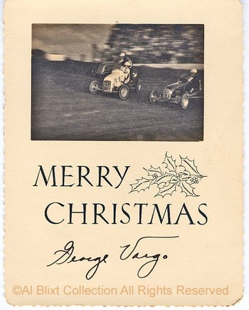 Auto Racing Christmas Cards on George Vargo Christmas Card 2 Late 40s