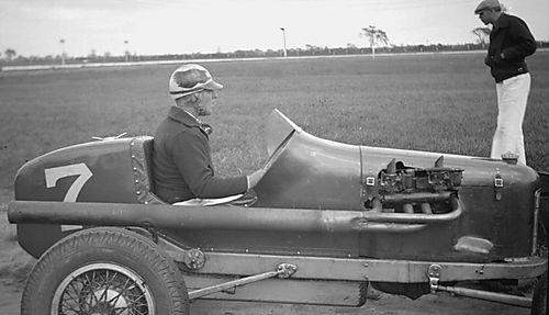 Car #7 and Driver - Detroit 100 Mile Race 1936