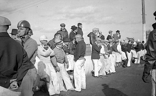 Drivers Waiting - Detroit 100 Mile Race 1936
